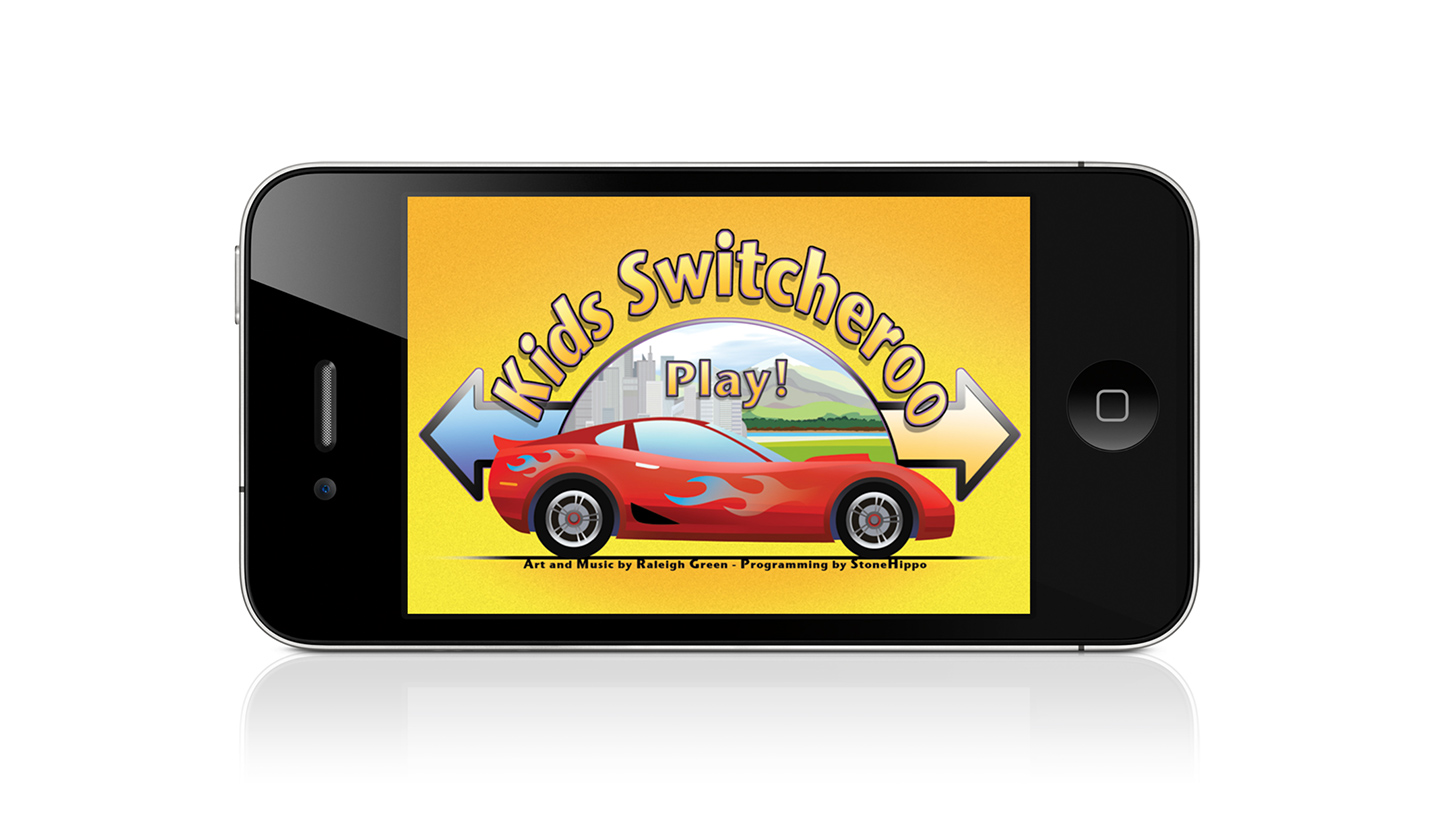 kidsSwitcheroo iPhone welcome screen