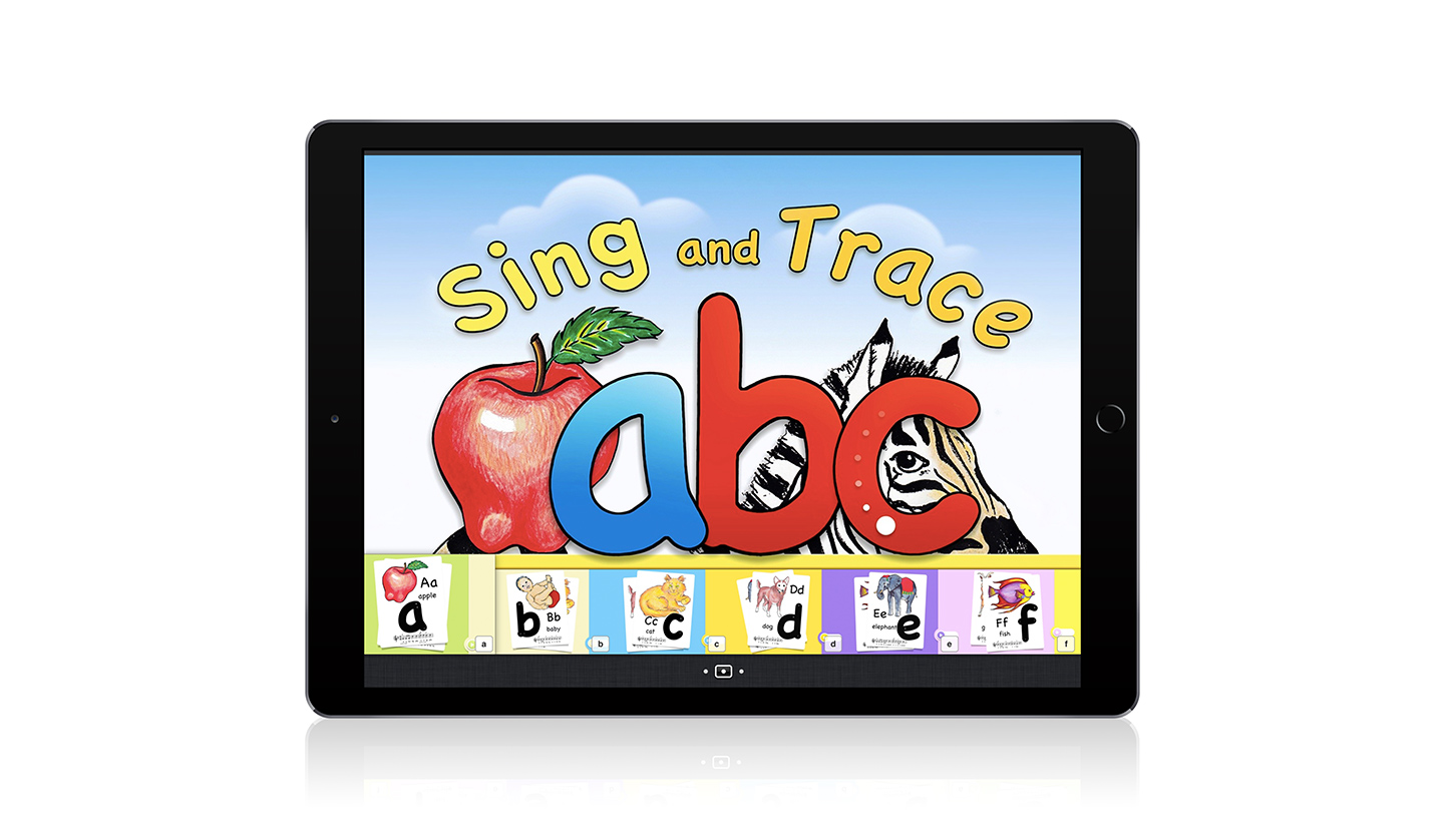 singAndTrace iPad menu